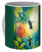 Antillean Crested Hummingbirds And Ixora Coffee Mug