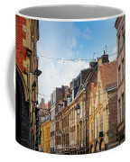 antique building view in Old Town Lille, France Coffee Mug