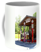 Antique Car And Filling Station 2 Coffee Mug