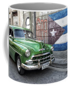 Antique Car And Mural Coffee Mug