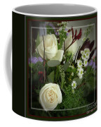 Antique Floral Arrangement Framed Coffee Mug