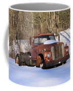 Antique Grungy Truck In Snow Coffee Mug