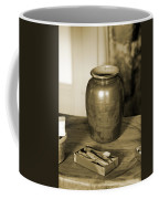 Antique Laundry And Clothes Pins In Sepia Photograph Coffee Mug