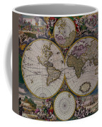Antique Map Exotic Colorful Coffee Mug