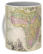 Antique Map Of Africa Coffee Mug by Pieter Schenk