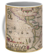 Antique Map Of America Coffee Mug