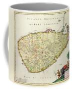 Antique Map Of Ceylon Coffee Mug by Nicolas Visscher