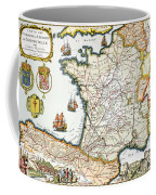Antique Map Of France Coffee Mug by French School