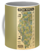 Antique Map Of Indianapolis By The Parry Mfg Company - Historical Map Coffee Mug
