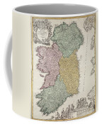 Antique Map Of Ireland Showing The Provinces Coffee Mug by Johann Baptist Homann
