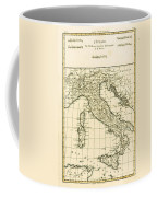 Antique Map Of Italy Coffee Mug