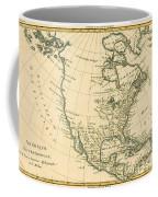 Antique Map Of North America Coffee Mug