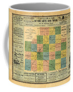 Antique Map Of The Mclean County - Business Advertisements - Historical Map Coffee Mug