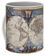 Antique Maps Of The World Joan Blaeu C 1662 Coffee Mug