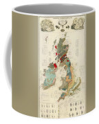 Antique Maps - Old Cartographic Maps - Antique Geological Map Of The British Islands Coffee Mug