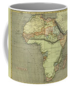 Antique Maps - Old Cartographic Maps - Antique Map Of Africa Coffee Mug