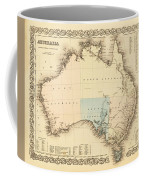 Antique Maps - Old Cartographic Maps - Antique Map Of Australia Coffee Mug