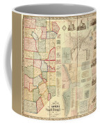 Antique Maps - Old Cartographic Maps - Antique Map Of Lawrence And Beaver Counties, 1860 Coffee Mug