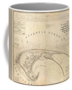Antique Maps - Old Cartographic Maps - Antique Map Of Cape Cod, Massachusetts, 1836 Coffee Mug