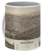 Antique Maps - Old Cartographic Maps - Antique Map Of Ciudad, Mexico, 1890 Coffee Mug