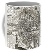Antique Maps - Old Cartographic Maps - Antique Map Of Paris, France, 1643 Coffee Mug