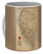 Antique Maps - Old Cartographic Maps - Antique Map Of Peru, South America, 1913 Coffee Mug