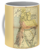 Antique Maps - Old Cartographic Maps - Antique Map Of Syria, 1884 Coffee Mug