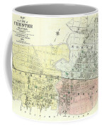 Antique Maps - Old Cartographic Maps - Antique Map Of The City Of Chester, England, 1870 Coffee Mug