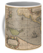 Antique Maps - Old Cartographic Maps - Antique Map Of The Pacific Ocean - Mar Del Zur, 1589 Coffee Mug