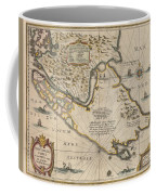 Antique Maps - Old Cartographic Maps - Antique Map Of The Strait Of Magellan, South America, 1635 Coffee Mug