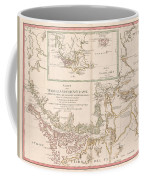 Antique Maps - Old Cartographic Maps - Antique Map Of The Strait Of Magellan, South America, 1787 Coffee Mug
