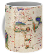 Antique Maps - Old Cartographic Maps - Antique Map Of The World, 1502 Coffee Mug