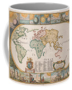 Antique Maps - Old Cartographic Maps - Antique Map Of The World Coffee Mug