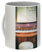 Antique Piano And Music Sheet Coffee Mug