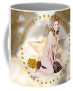 Antique Pin-up Girl On Missile. Bombshell Blond Coffee Mug