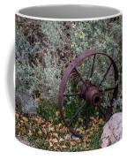 Antique Steel Wagon Wheel Coffee Mug