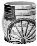 Antique Wagon Wheel In Black And White Coffee Mug