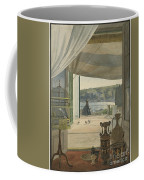 Antiquities By A Balcony Overlooking The Gulf Of Naples Coffee Mug
