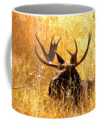 Antlers In The Golden Grass Coffee Mug