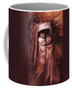 Apache Girl And Papoose Coffee Mug