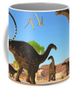 Apatosaurus Forest Coffee Mug