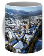 Apiro Italy In The Snow - Aerial Image. Coffee Mug
