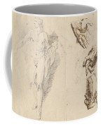 Apollo And Studies Of The Artist's Own Hand [recto] Coffee Mug
