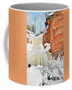 Apostle Islands National Lakeshore Waterfall Portrait Coffee Mug