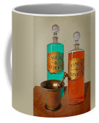 Apothecary Bottles And Brass Pestle And Mortar Coffee Mug