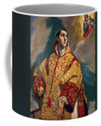 Apparition Of The Virgin To St Lawrence Coffee Mug