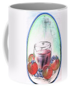 Apple And Blueberry Drink Coffee Mug