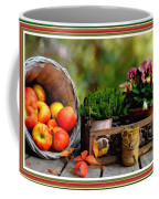 Apple Basket And Other Objects Still Life L B With Alt. Decorative Ornate Printed Frame. Coffee Mug