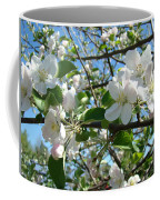 Apple Blossoms Art Prints 60 Spring Apple Tree Blossoms Blue Sky Landscape Coffee Mug