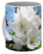 Apple Blossoms Art Prints Giclee 48 Spring Apple Tree Blossoms Blue Sky Macro Flowers Coffee Mug